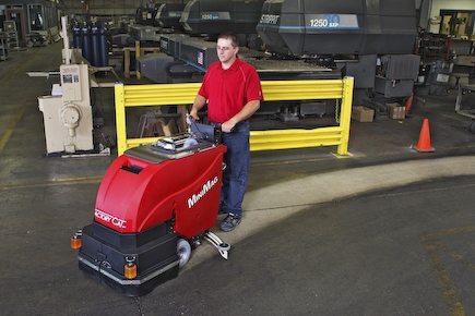 Use the advance floor scrubbers at your office to clean for Scrubbing concrete floors
