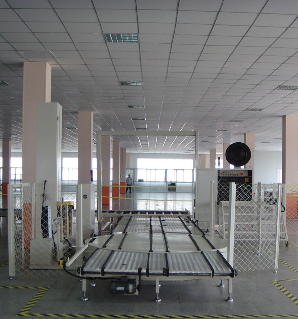 Pallet wrapping machine and strapping machine