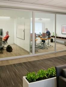 Internal Glazed Doors Provide Privacy To The Inhabitants